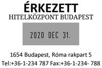 Szöveglemez Expert 3360 Dátumbélyegzőhöz