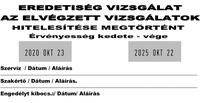 Szöveglemez Expert 3960 dupla dátumos bélyegzőhöz